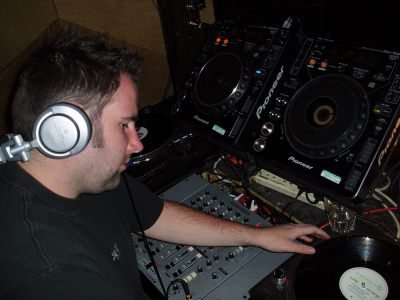 James Weston DJing in Oxford at Po Na Na in May 2007.