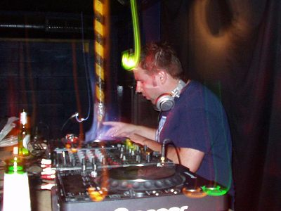 James Weston DJing in Oxford at The Bullingdon in July 2007.