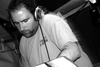 Photo of James Weston DJing by Rhiannon Kitson.