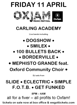 Flier icon: Oxjam, Oxford.