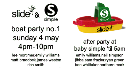Flier icon: Simple & Slide, Oxford.