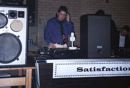 James DJing at College Hall, Leicester (click to enlarge)